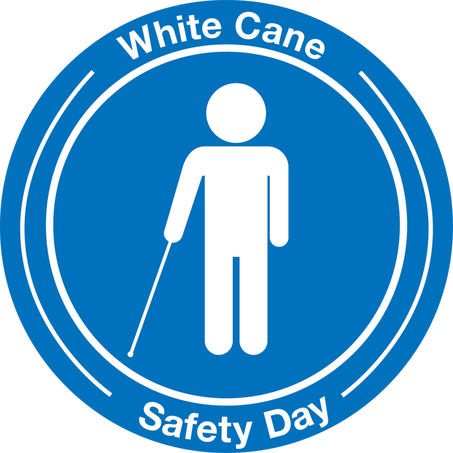 How to white cane. Celebrate clipart safety