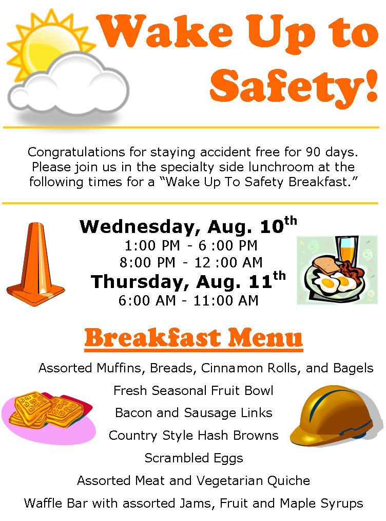 Celebrate clipart safety.  days accident free