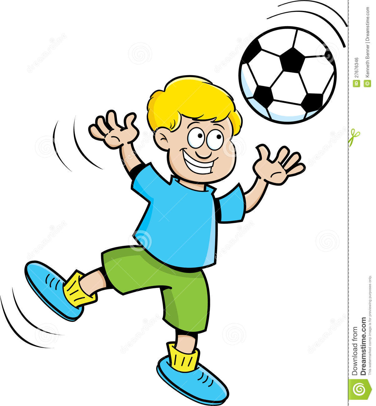 Celebrate clipart soccer. Cartoon boy playing panda