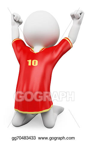 Celebrate clipart soccer. Stock illustration d white