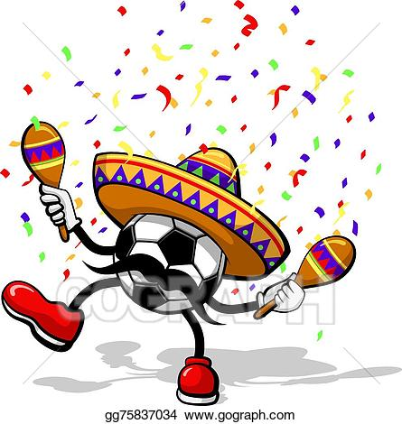 Vector stock cinco de. Celebrate clipart soccer