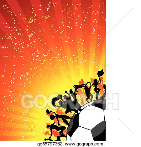 Celebrate clipart soccer. Vector stock huge crowd