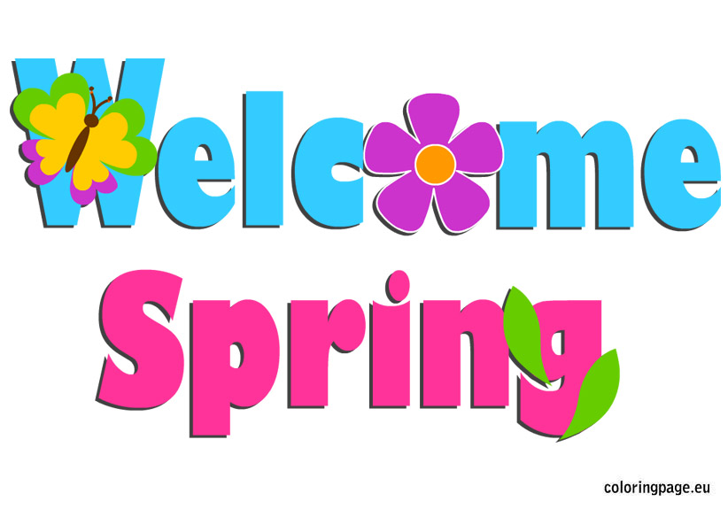 Welcome Spring Clipart