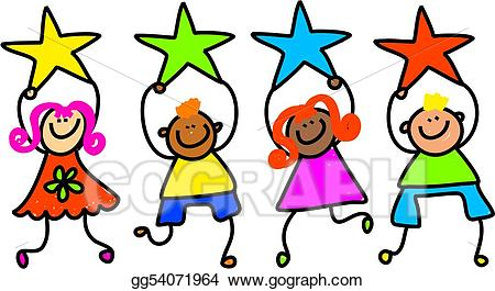 Drawing kids gg gograph. Celebrate clipart star