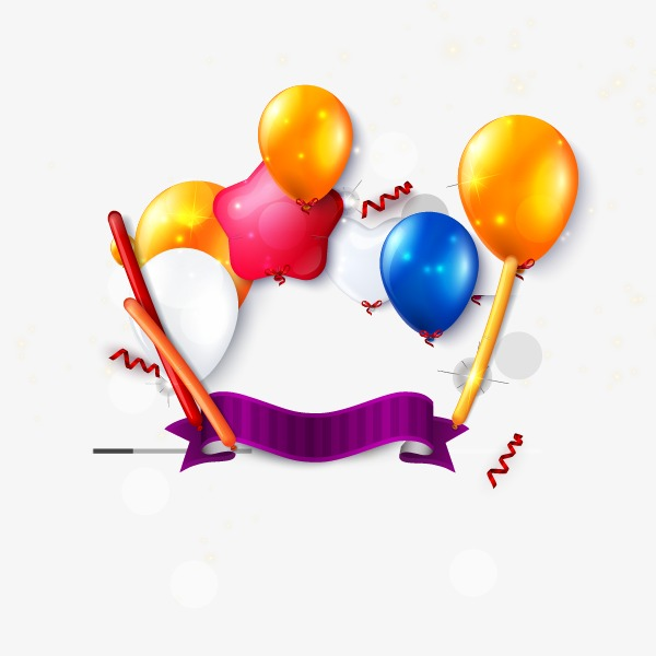 Celebrate clipart star. Celebration elements balloon png