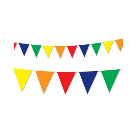 Celebrate clipart streamer. Multi colored flag pennant