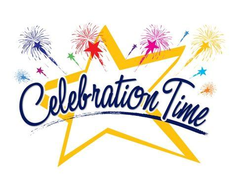 Headlines and features celebrating. Celebrate clipart success