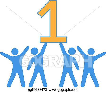 Vector art number people. Celebrate clipart team