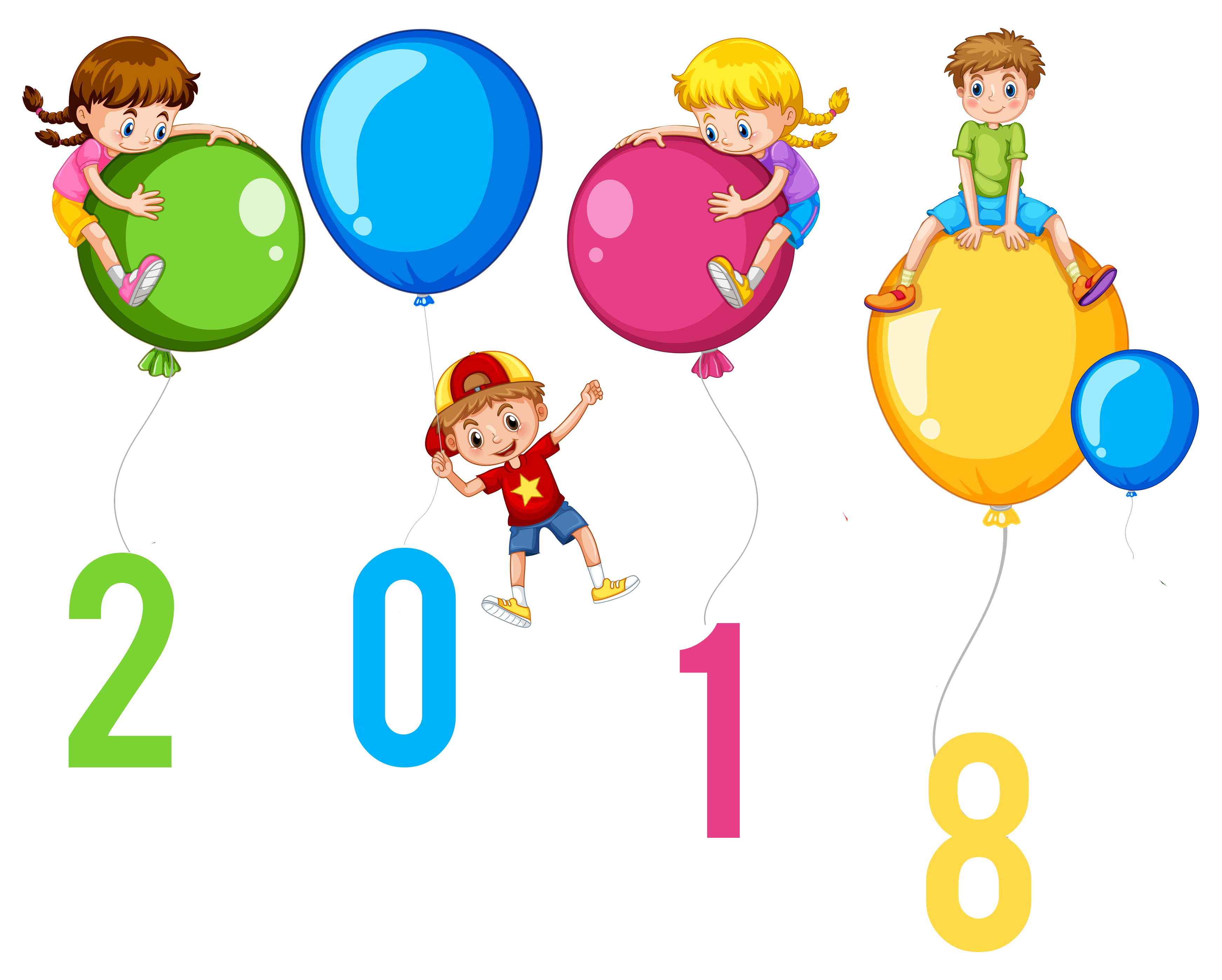 balloons with transparent background free download best clipart calendar new year
