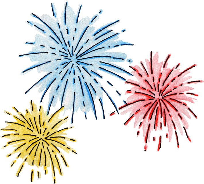 Firworks new year clip. Celebrate clipart transparent background