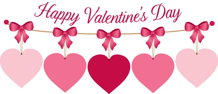 Pink valentine hearts clip. Celebrate clipart valentines