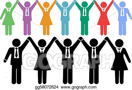 Stock business people symbols. Celebrate clipart vector