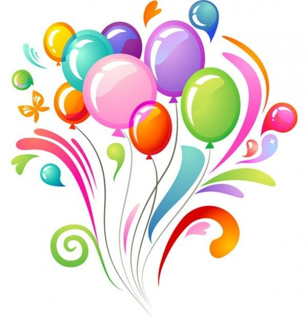 Celebrate clipart vector. Colorful balloons celebration background