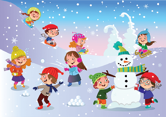 Four seasons scenery fun. Celebrate clipart winter