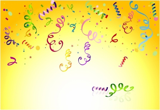 Celebrate clipart yellow. Party free vector download