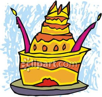 Dessert and image com. Celebrate clipart yellow