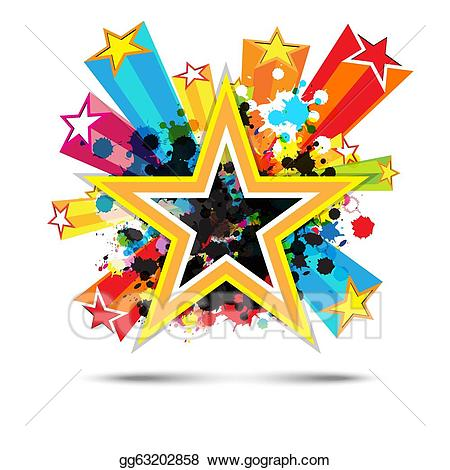 Vector stock abstract star. Background clipart celebration