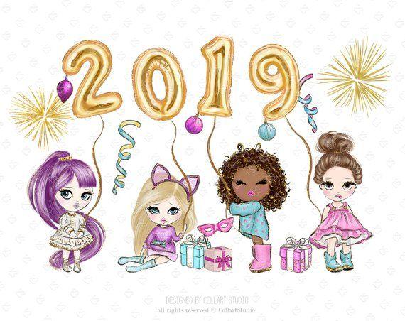 New year clip art. Celebration clipart artwork