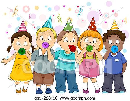 Celebration clipart artwork. New year stock illustration