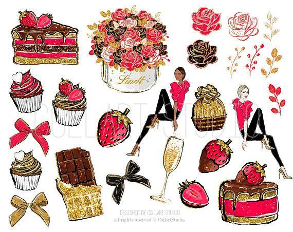 Celebration clipart artwork. Chocolate strawberry illustration sweets
