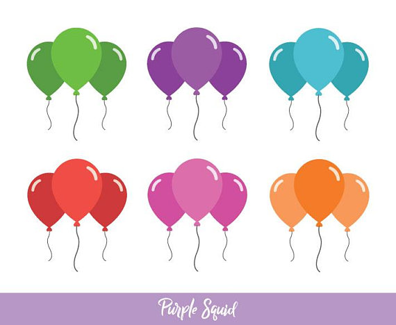 Balloons party birthday commercial. Celebration clipart balloon