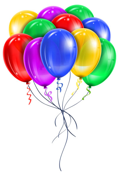 Celebrate clipart transparent background. Balloon bouquet party celebration