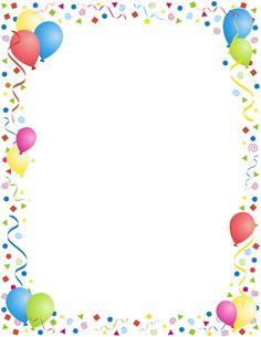 Balloons confetti by marc. Celebration clipart border