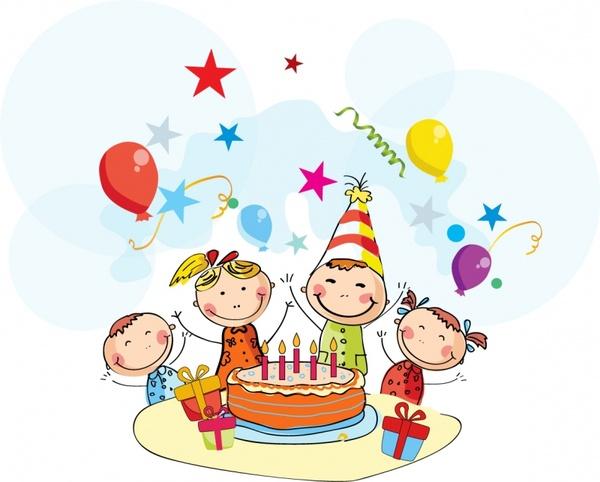 Birthday best happy wishes. Celebration clipart cartoon