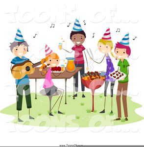Celebration clipart cartoon. Bbq free images at