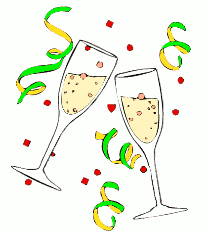 Celebration clipart champagne. Bottle new year clip