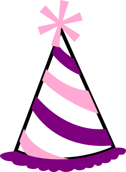 Pink and purple party. Celebration clipart clear background