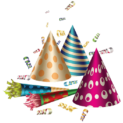 Celebration clipart clear background. Birthday party transparent png