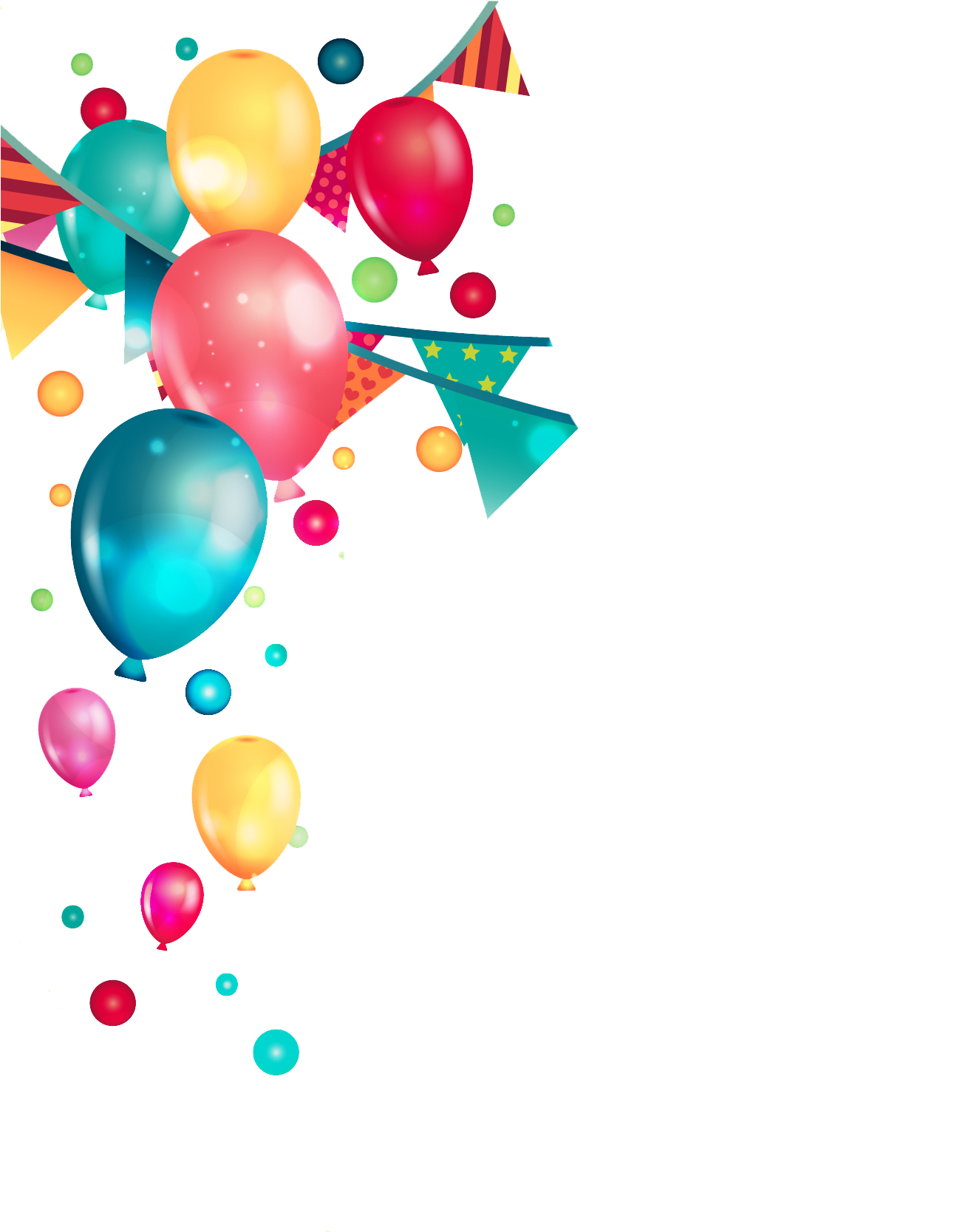 Celebration clipart clear background. Hd birthday party balloons