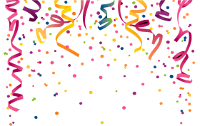 Download confetti curly transparent. Celebration clipart clear background