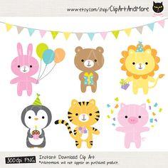 Animal clip art baby. Celebration clipart cute