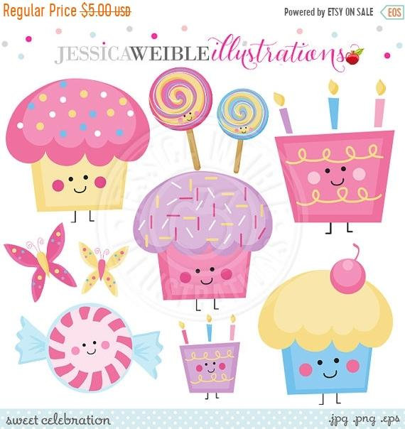 Celebration clipart cute. Sale sweet digital commercial