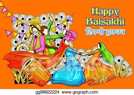 Eps illustration happy vaisakhi. Celebration clipart festival