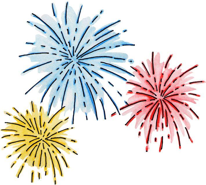 happy new year. Celebration clipart firework
