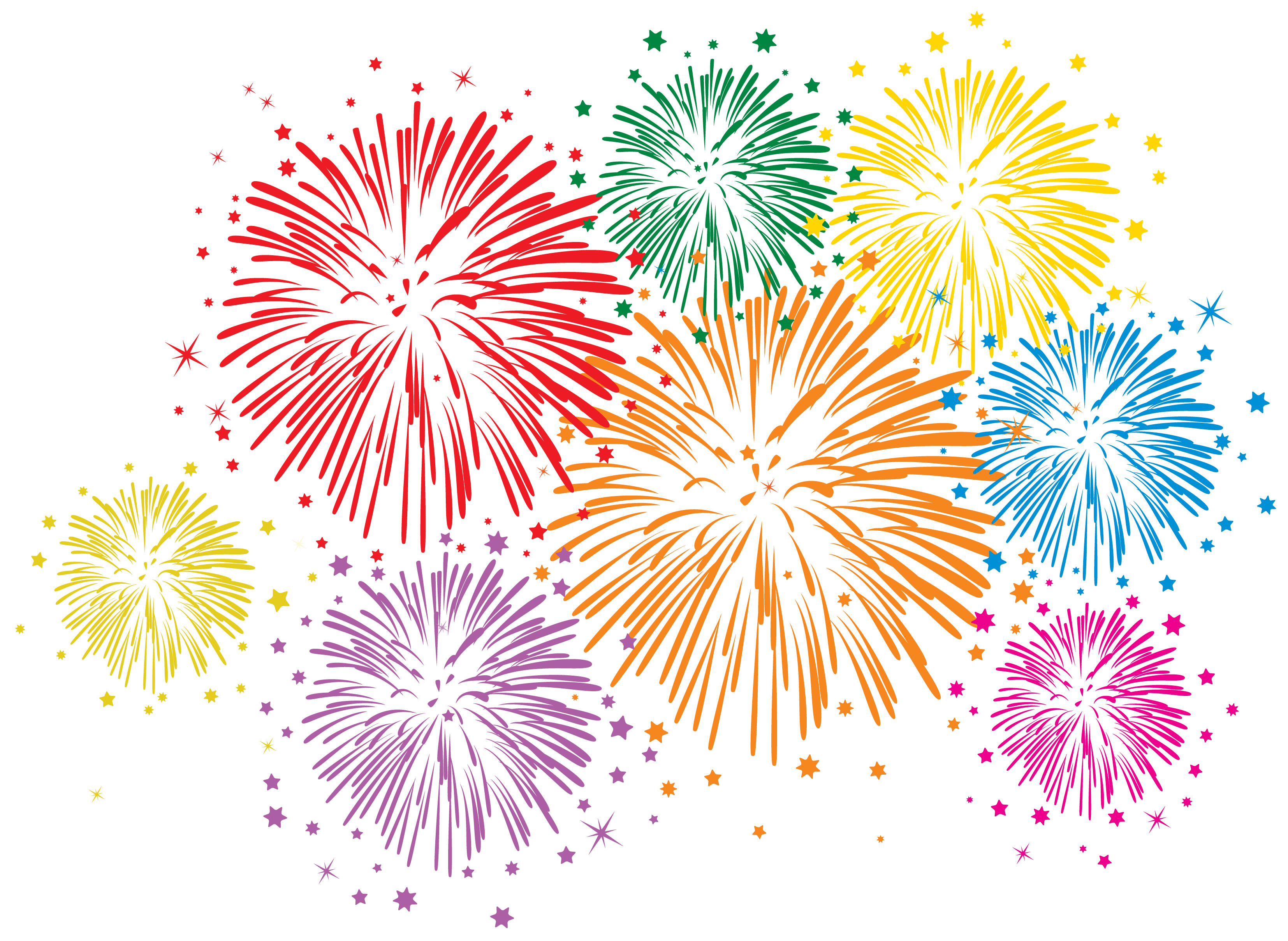 Firework clipart firworks.  collection of background