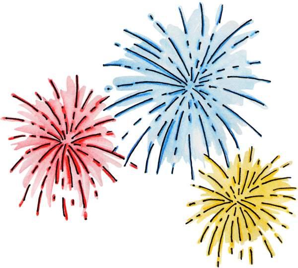 Fireworks clip art animations. Celebration clipart firework