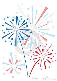 Bursting red fourth of. Celebration clipart firework