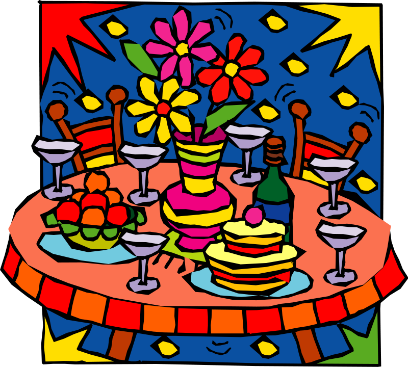 Free celebration food cliparts. Clipart fireworks party