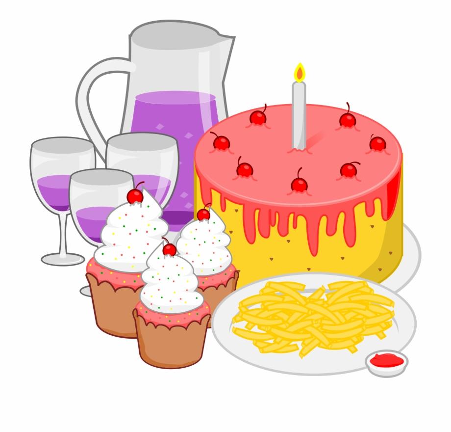 Food clipart celebration. Birthday party
