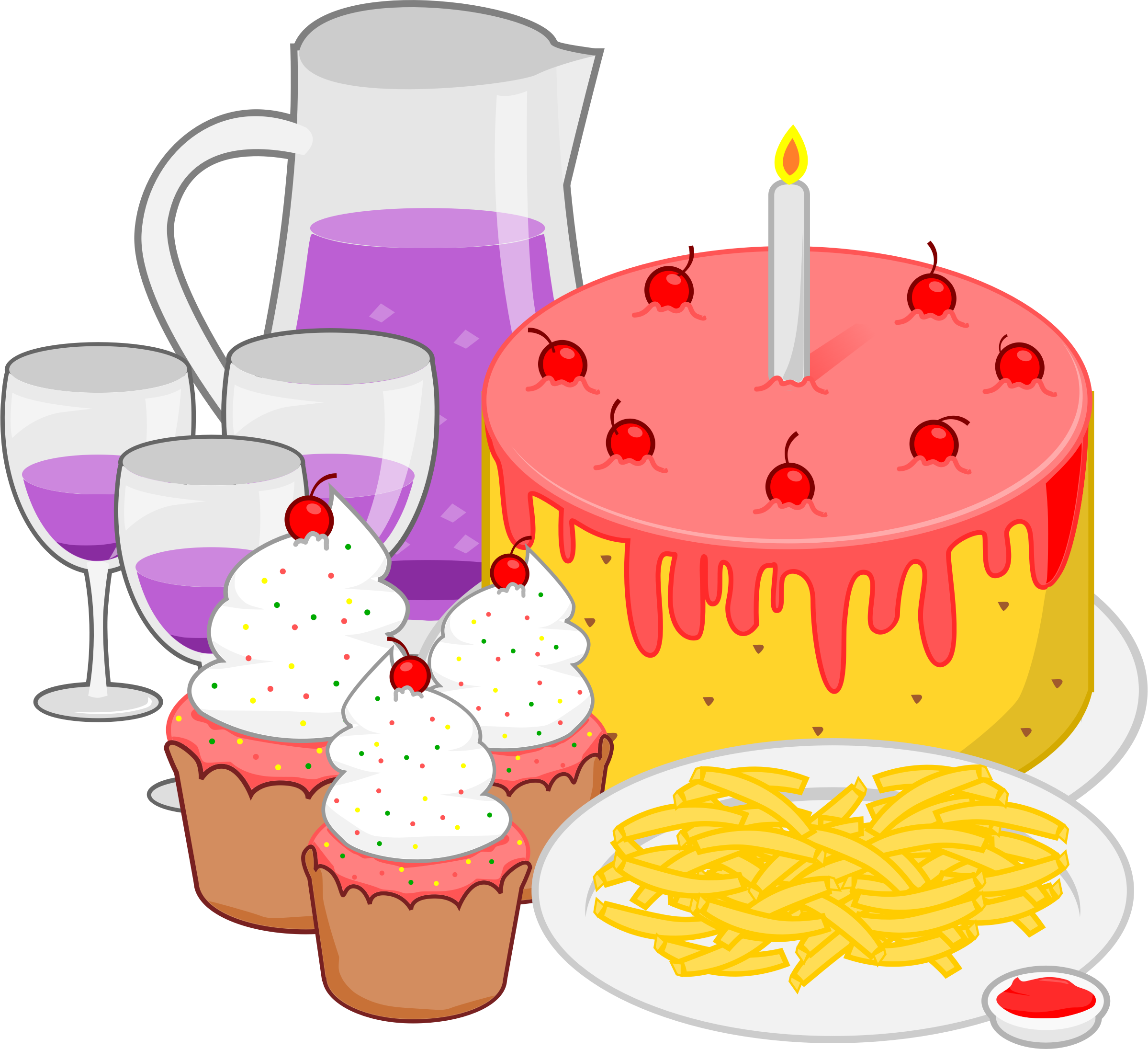 Image for free birthday. Focus clipart food