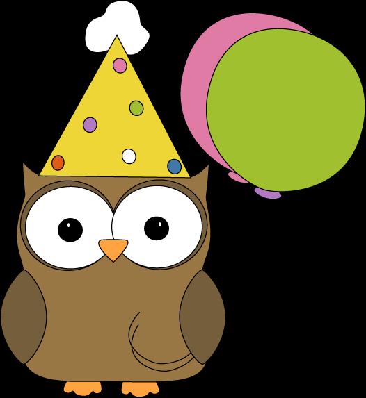 Owl party . Celebration clipart fun