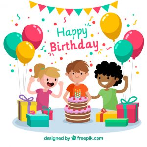 Birthday picture of social. Celebration clipart group