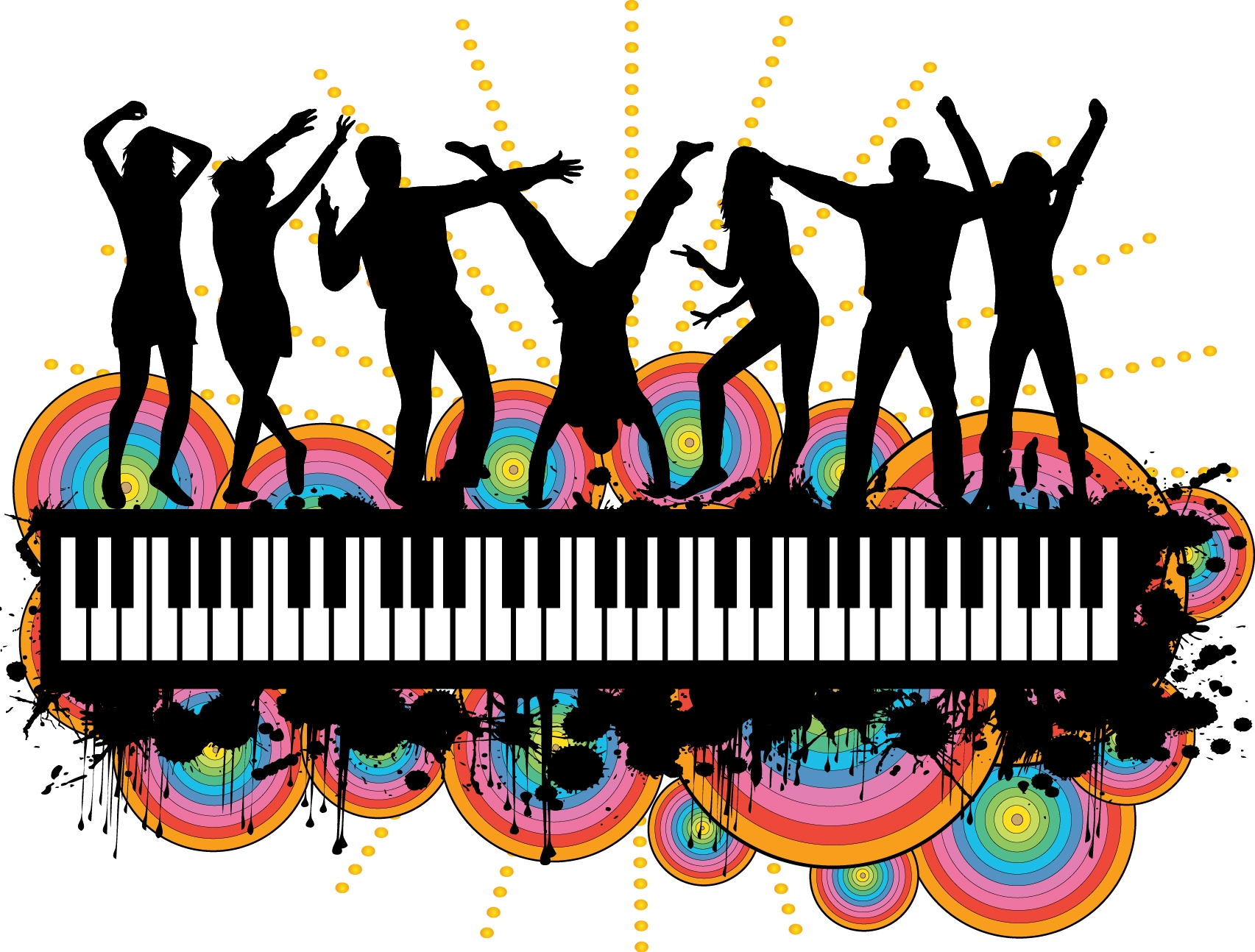 Party people silhouette at. Celebration clipart group