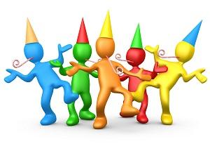 Celebration clipart group. Illustration of a diverse