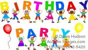 Celebration clipart group. Illustration of a kids