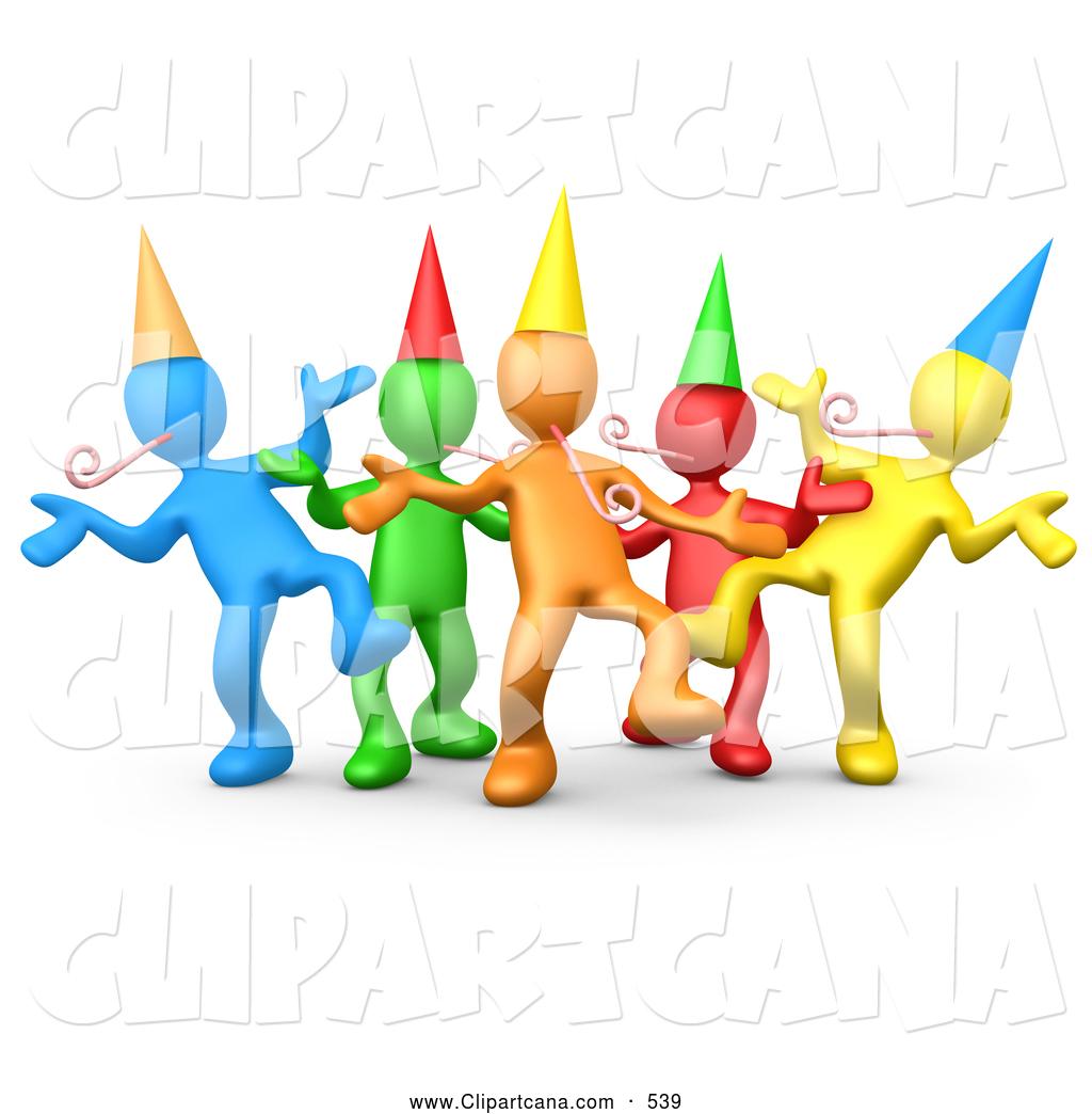 Celebration clipart group.